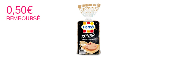 100% Mie Spécial Foie Gras Harrys