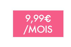 Forfait 9,99€/mois sans engagement
