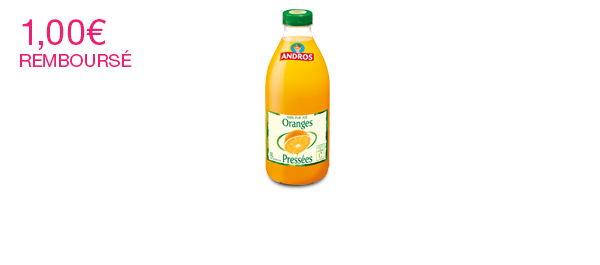 Les Jus de fruits Andros 1L