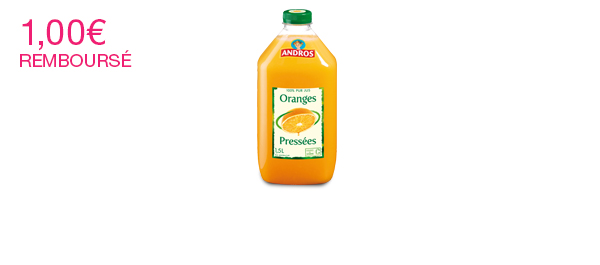 Les Jus de fruits Andros 1,5L