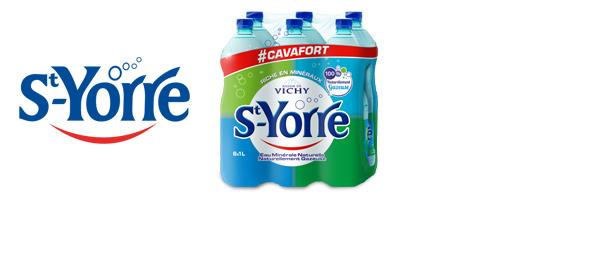 L'eau minérale gazeuse St-Yorre