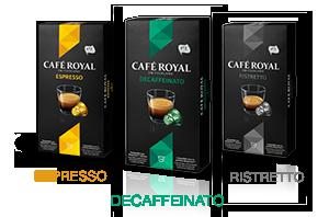 Espresso, Ristretto,  Decaffeinato
