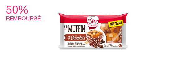 2 Muffins aux 3 Chocolats