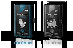 Colombia, Ethiopia