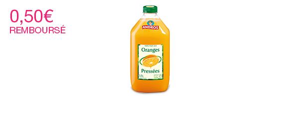 Les Jus de fruits Andros 1,5L