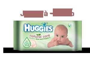 Huggies Lingettes  Natural Care