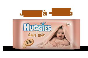 Huggies Lingettes Soft Skin