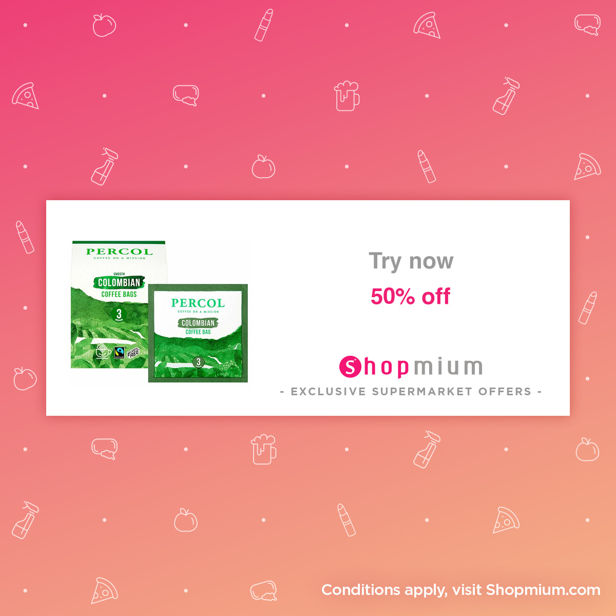 Shopmium Percol Coffee Bags