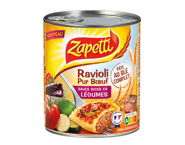 Ravioli Pur Bœuf Sauce Riche en Légumes