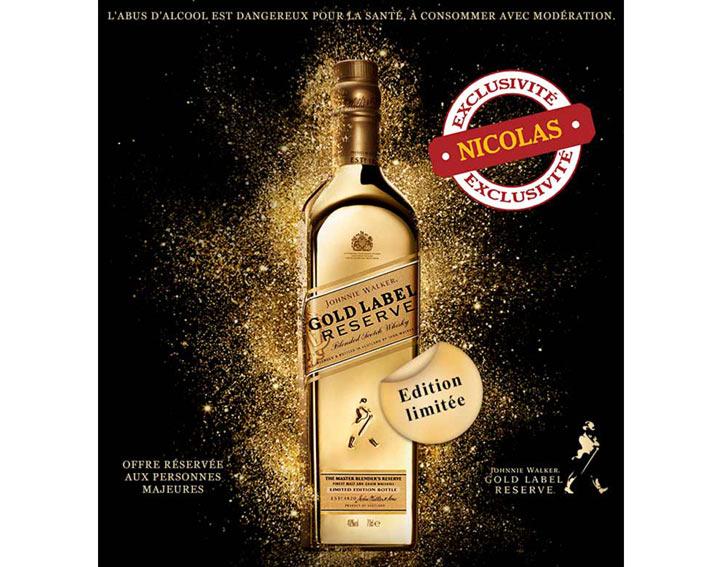 Johnnie Walker Gold Label Reserve 70 cl - 40° Bullion II - Edition limitée