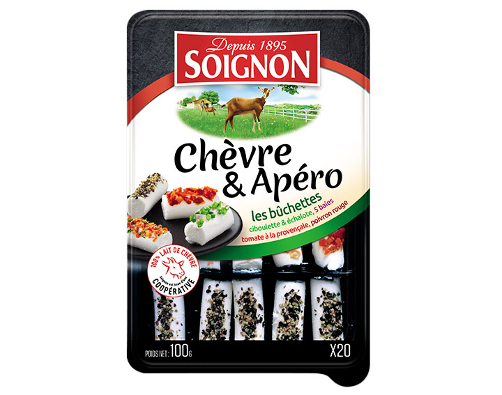20 bûchettes Chèvre aux aromates SOIGNON