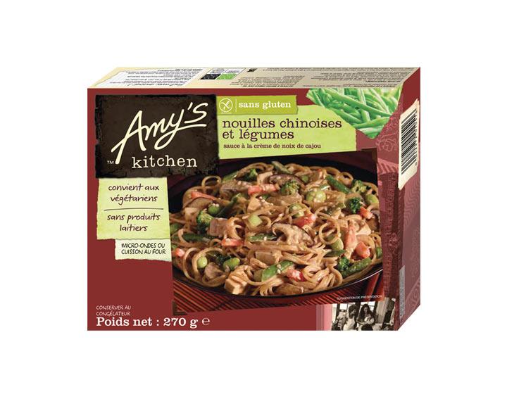 Nouilles chinoises et légumes