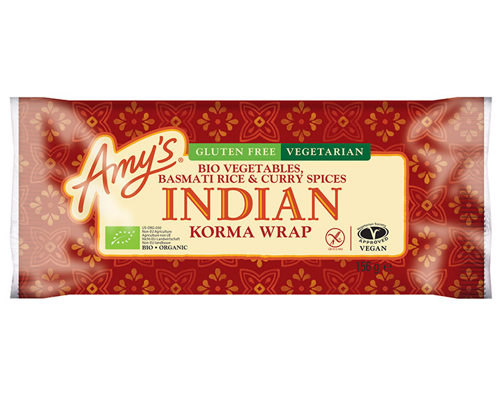 Wrap bio korma à l'indienne sans gluten
