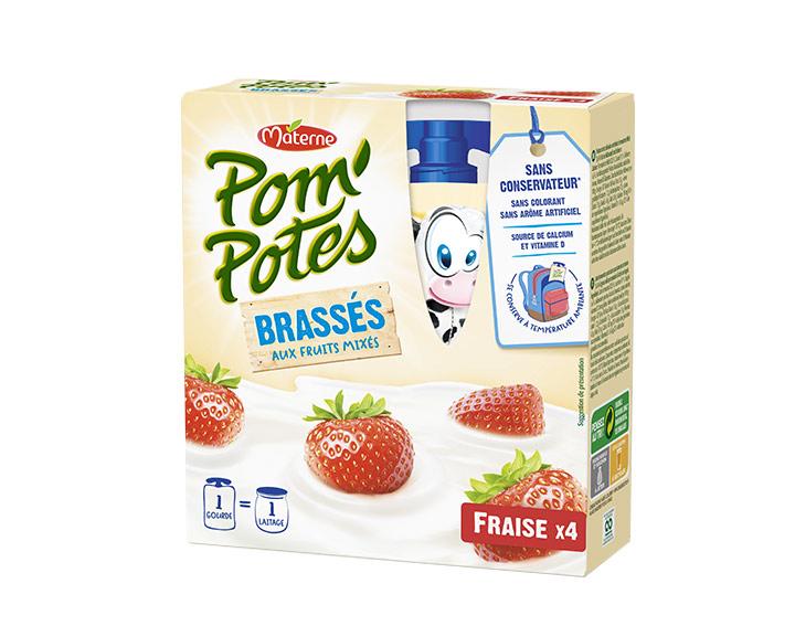 Pom'Potes® Brassés Fraise x4