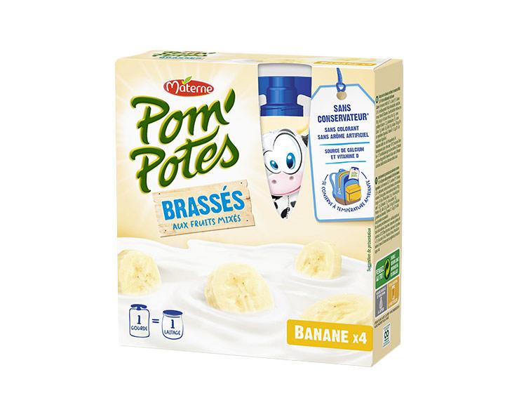 Pom'Potes® Brassés Banane x4
