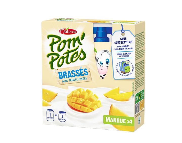 Pom'Potes® Brassés Mangue x4