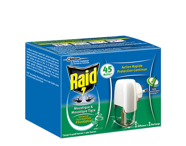 Raid® Diffuseur Electrique Liquide 45 nuits Eucalyptus