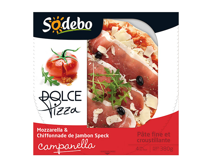 Mozzarella & chiffonnade de jambon speck