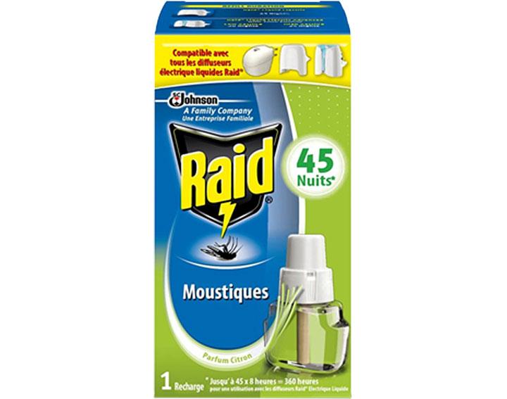 Raid® Recharge électrique liquide 45 nuits Senteur Citronnelle