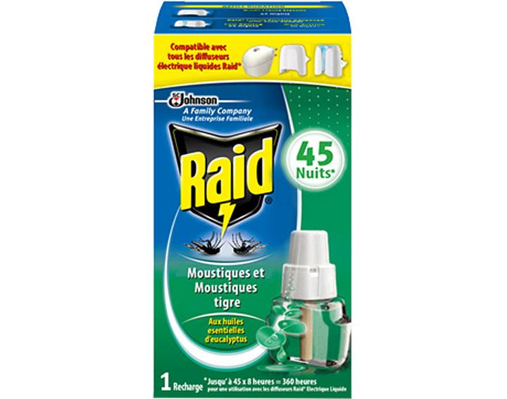 Raid® Recharge électrique liquide 45 nuits Eucalyptus