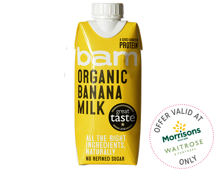 Organic banana milk 330ml