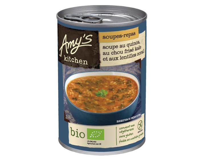 Soupe au quinoa, choux frisé et lentilles