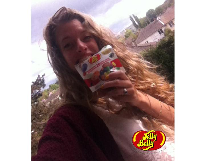 100% remboursé si vous partagez une photo Selfie avec votre paquet de bonbons Jelly Belly