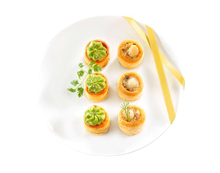 16 Mini Feuilletés noix de Saint-Jacques 170g - 5,95€
