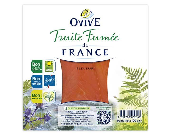 Truite Fumée de France 3 tranches mini