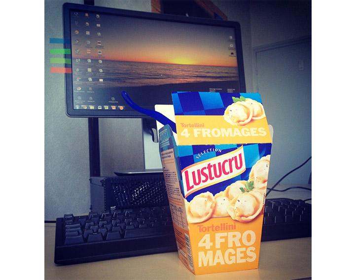 100% remboursé si vous partagez une photo de votre Box Lustucru mise en situation sur Facebook