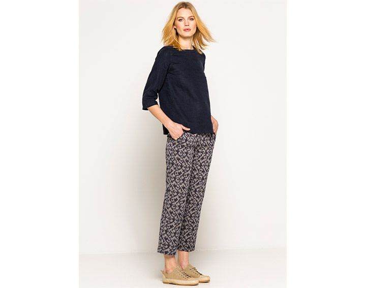 """Pantalon fluide, femme coton véritable ikat, """"DERVIO"""" - 85€"""