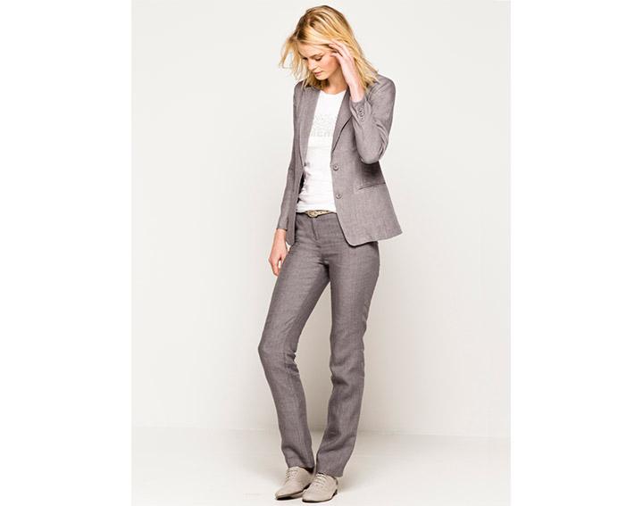Pantalon femme slack lin chiné, BUREN - 75€