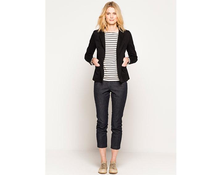 Veste femme coton col tailleur, DIRCAY - 95€