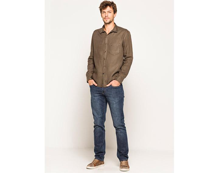 Chemise homme lin garment dyed regular fit, DONARU - 59€