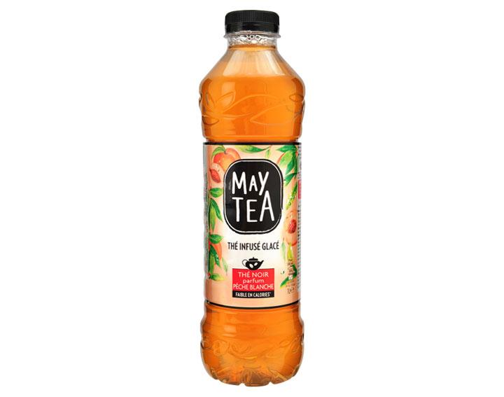Zwarte thee met witte perziksmaak 1l