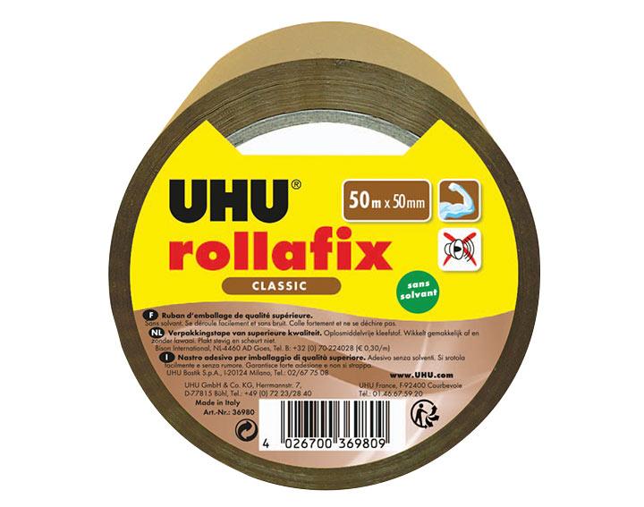 Rollafix Ruban d'emballage brun 50mx50mm