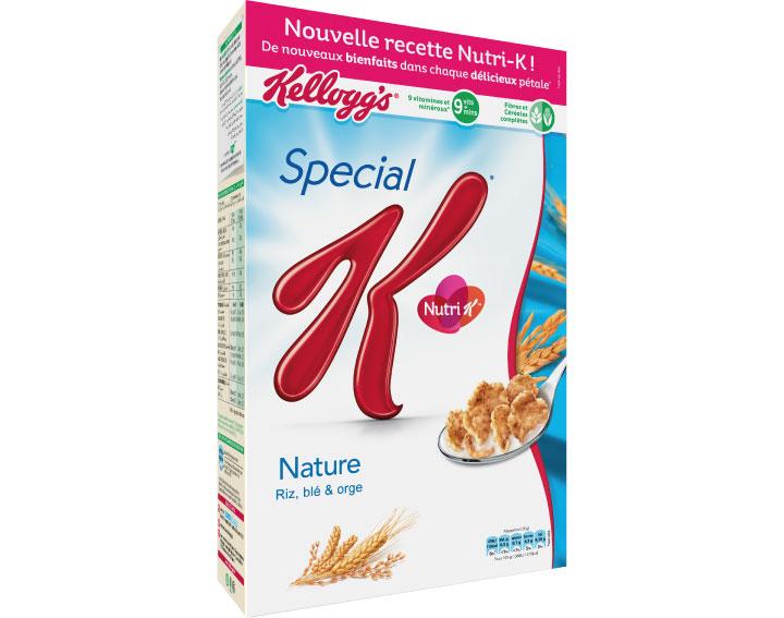 Special K® Nature avec sa nouvelle recette Nutri K - 440g