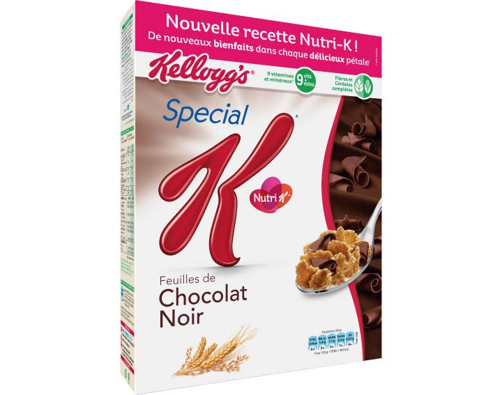 Special K Chocolat Noir avec sa nouvelle recette Nutri K - 300g