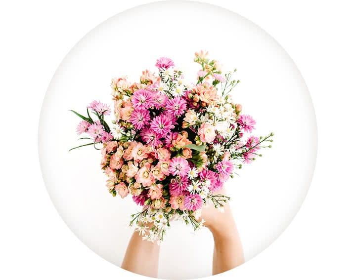 10 x livraisons de bouquets pendant 3 mois