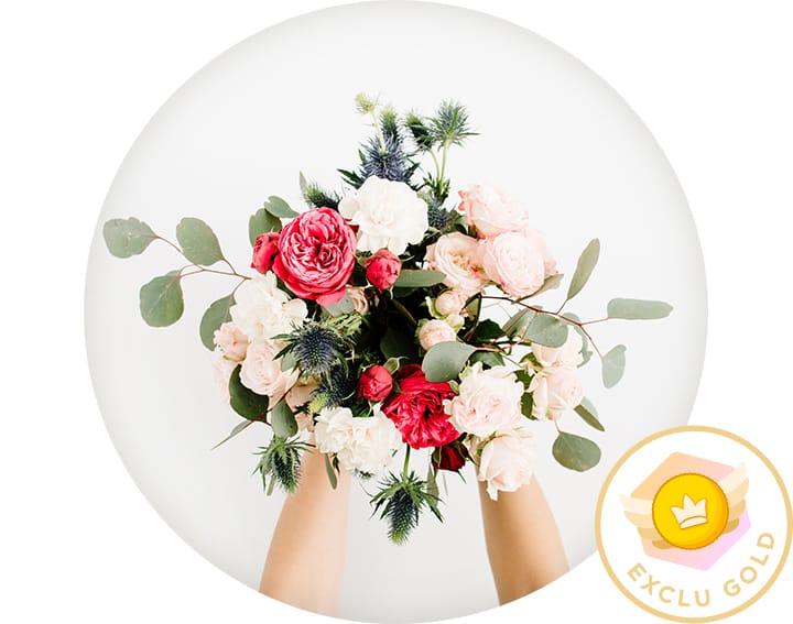 10 x livraisons de bouquets pendant 6 mois