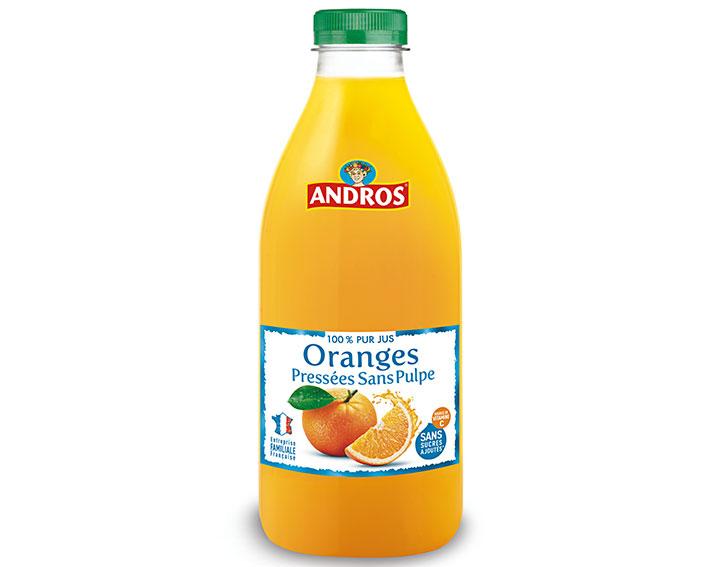 Pur jus d'Oranges pressées sans pulpe