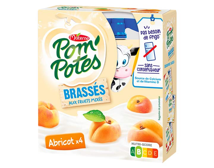 Pom'Potes® Brassés Abricot x4