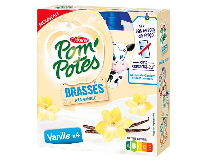 Pom'Potes® Brassés Vanille x4