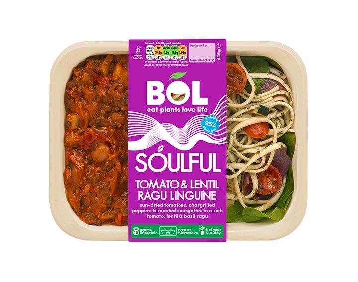 Soulful Tomato & Lentil Ragu Linguine 415g
