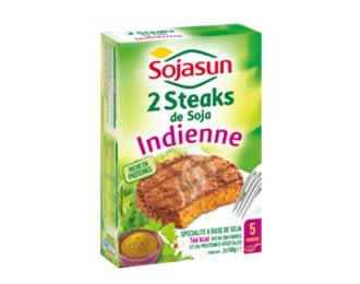 2 steaks de Soja à l'Indienne