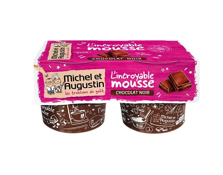 Mousse au chocolat noir 2x70g
