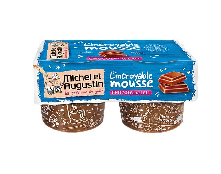 Mousse au chocolat au lait 2x65g