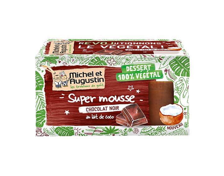 Mousse végétale au chocolat noir 2x70g