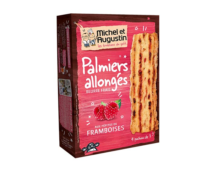 Palmiers framboise 120g