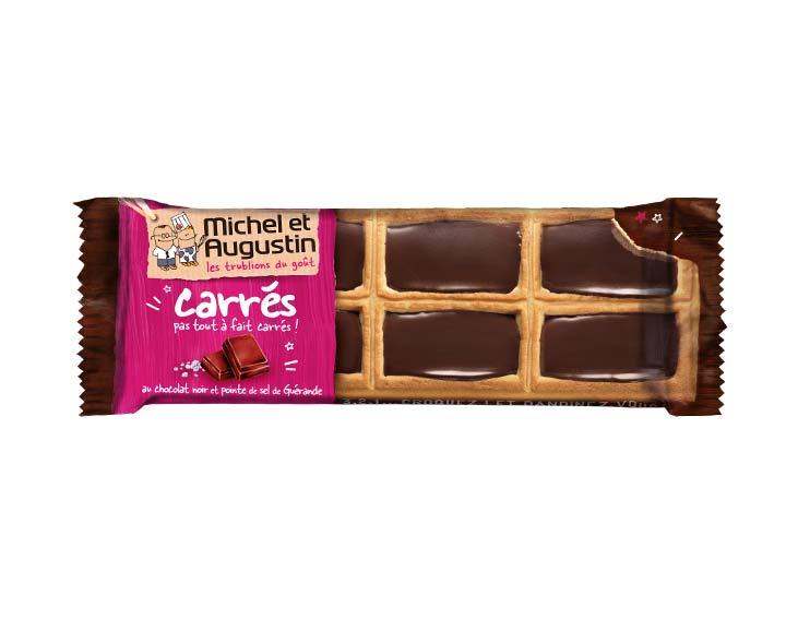 Petits carrés chocolat noir 73g